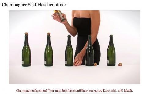 Champagner Sekt Flaschenöffner Flaschenverschluß